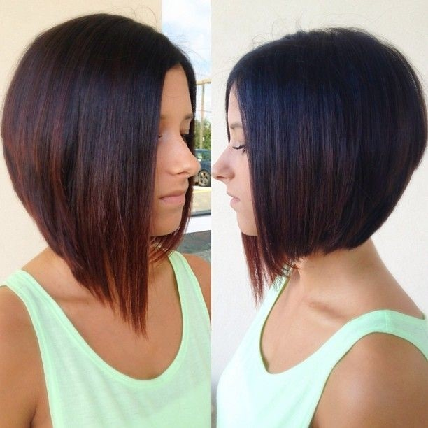 Straight Long Bob Haircut: Ombre Hair