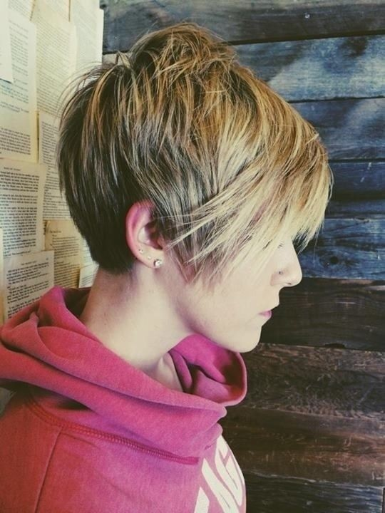 is short hair in style for fall 2014 20 layered hairstyles 2015 haircuts new trends 4651 | Straight Long Pixie Haircut with Thick Hair Short Hairstyles for Fall and Winter
