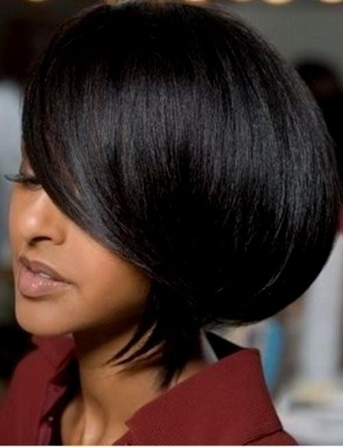 Straight Short Haircut - Groovy Short Bob Hairstyles for Black Women