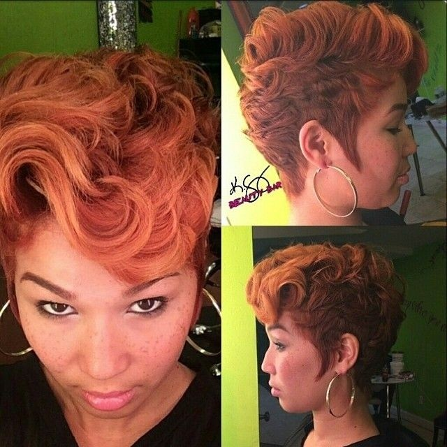 Stylish, Female Short Haircut - African American Hairstyles