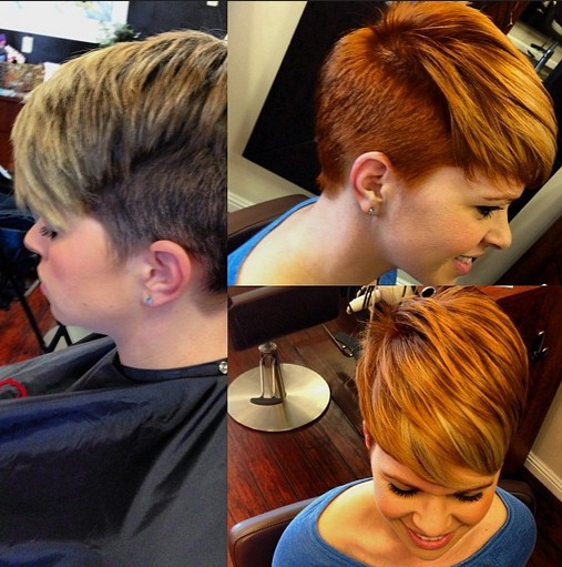 Stylish Hair Color for Short Pixie Haircut