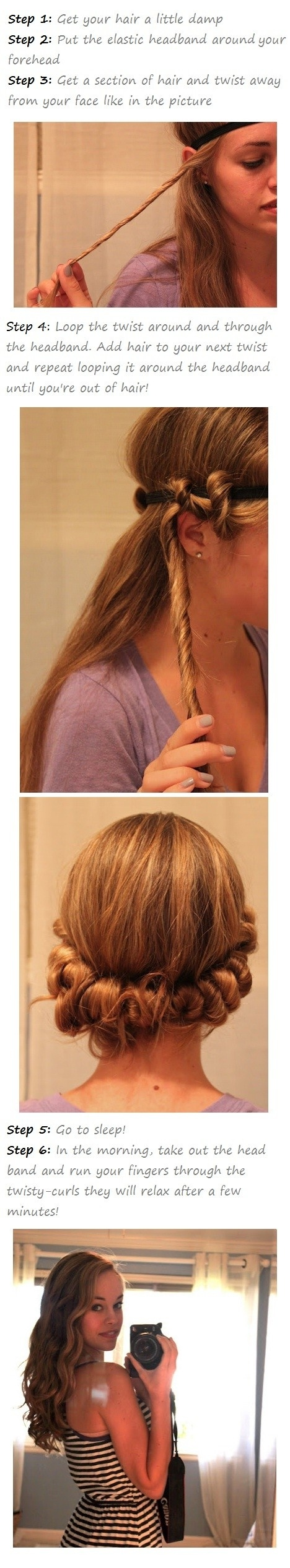 DIY No Heat Curls 15 Tutorials for Curl Hair without Heat  Styles