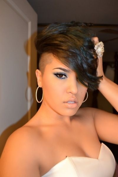 African American Short Hairstyles with Shaved Sides