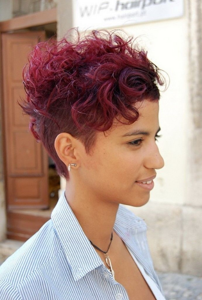 Hairstyles For Short Curly Hair Videos : Trendy Shaved Haircut for Short Curly Hair