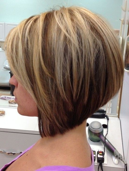 Trendy Short Hairstyles 2017: Stacked Bob Haircut
