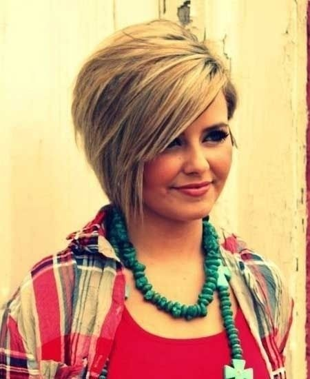 Pleasing Funky Bob Hairstyles For Round Faces Hairstyles Short Hairstyles Gunalazisus