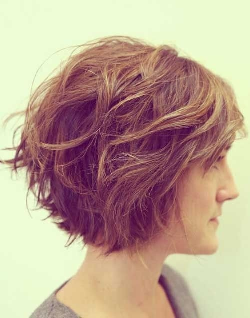 Wavy Hairstyles for Short Thick Hair: Women Haircuts 2015
