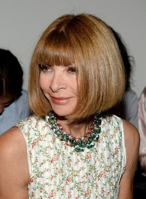 Anna Wintour Bob Hairstyle for Short Thick Hair