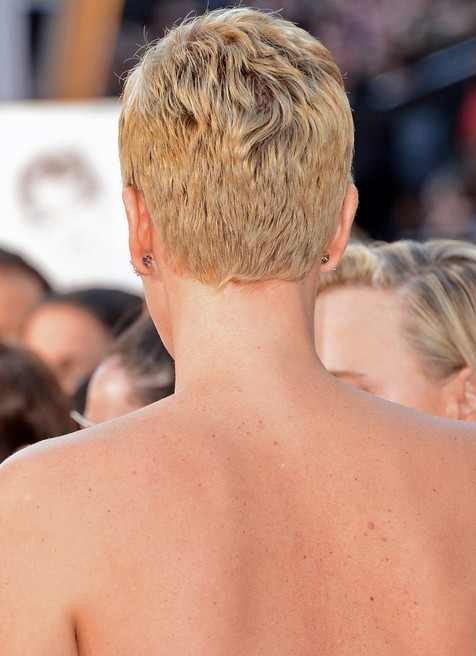 Back View of Charlize Theron Pixie Cut /Getty images Back View of ...
