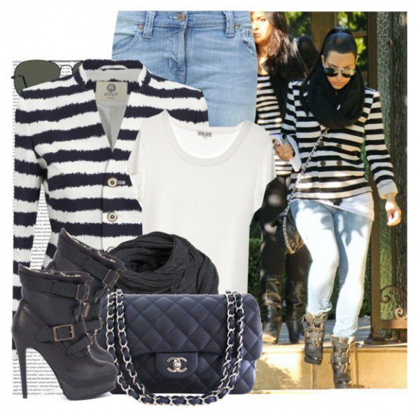 Black and White Stripes Outfit Idea