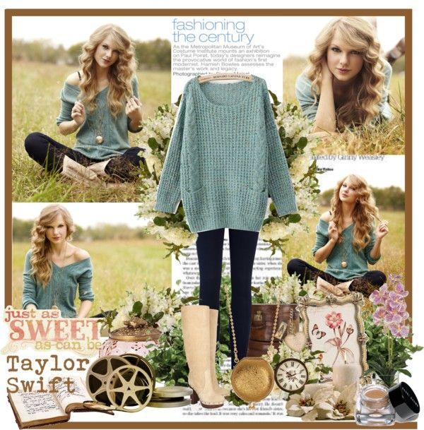 Celebrity Knitwear Outfit Idea