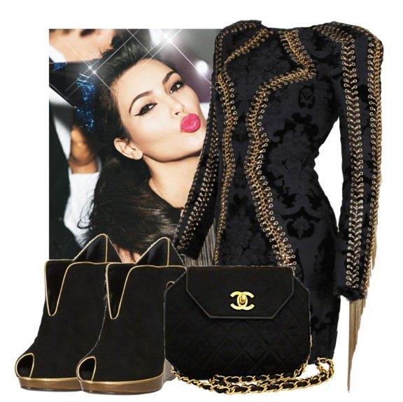 Celebrity Outfit Style Kim Kardashian