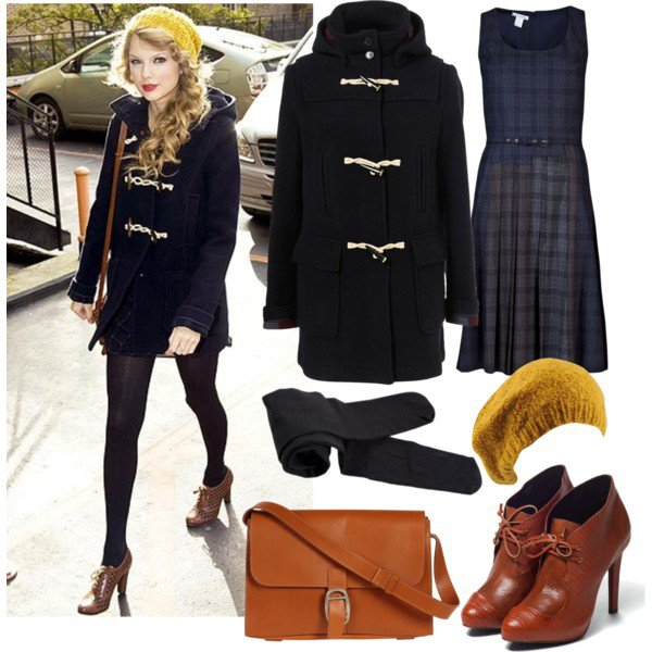 Chic Celebrity Dark Blue Outfit