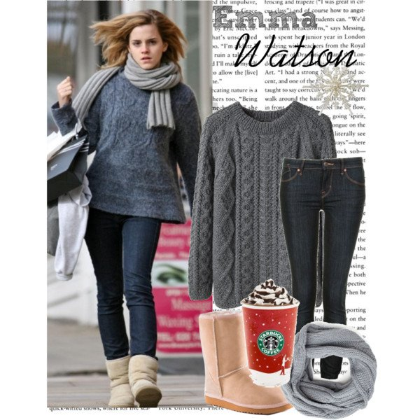Chic Celebrity Grey Jumpers Outfit