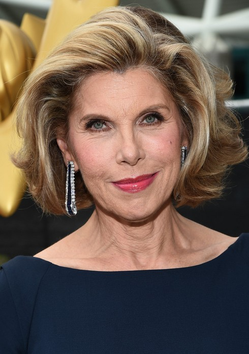 Christine Baranski Layered Short Thick Haircut for Women Over 60