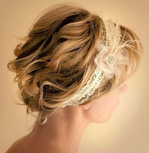 Curls Updos for Short Hair - Swanky Wedding Updo Hairstyles