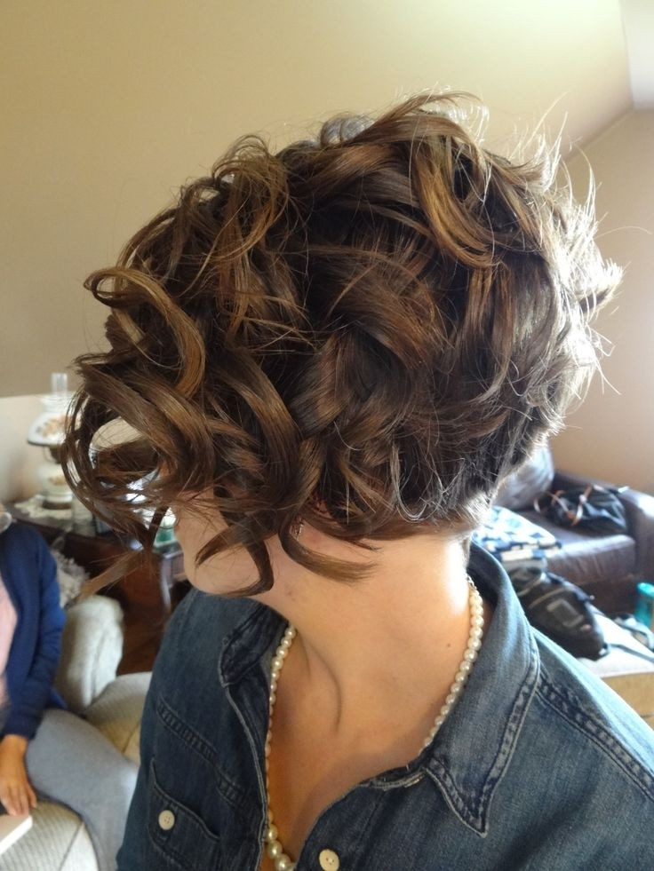 Curly Hairstyles for Short Hair - Very Short Hair Formal Style