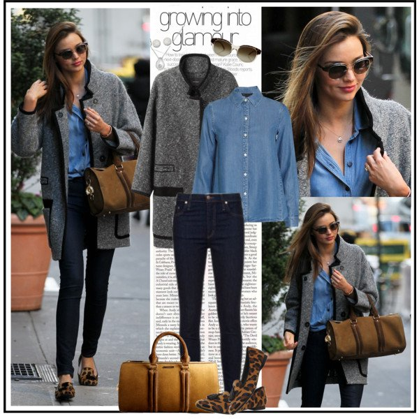Denim Shirt with Grey Outfit