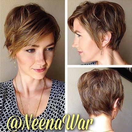 Everyday Hairstyle for Women - Messy Short Haircuts with Side Swept Bangs