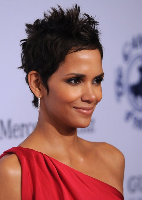 Halle Berry Short Pixie Cut for Black Women