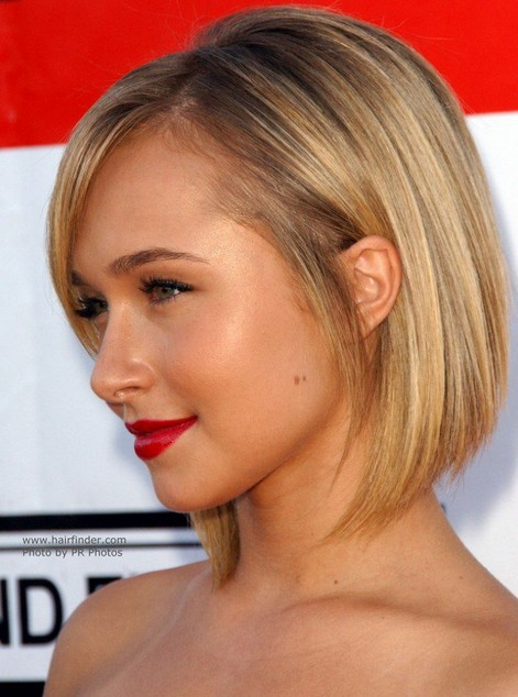 Cute back to school hairstyle for short hair  the chic straight bob ...