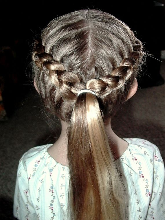 Heart Braid For Girls