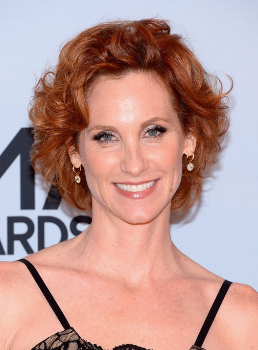 Judith Hoag Short Red Curly Hairstyle for Women Over 40