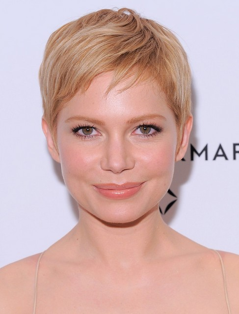 Michelle Williams Short Straight Pixie Cut with Bangs for Women