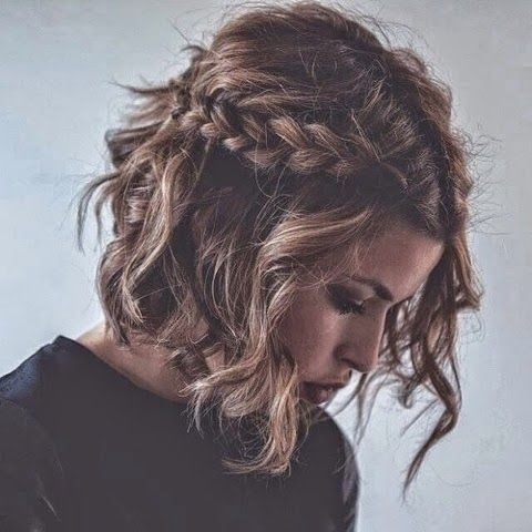 Short Wavy Hair with Braid