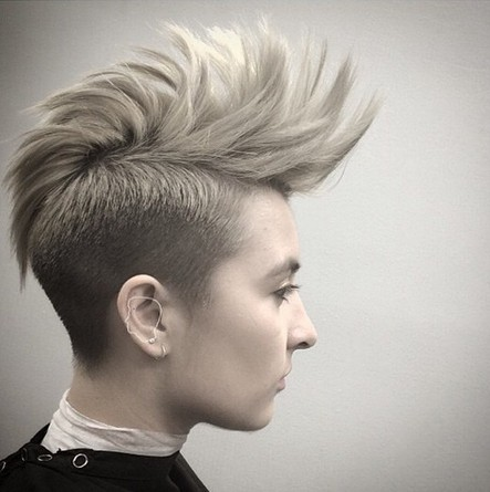 Spiked Short Hair Style