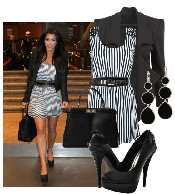 Stripe Dress Outfit Idea