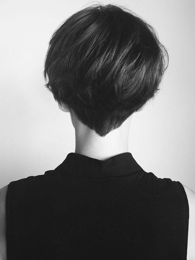 Stylish Short Haircut Back View