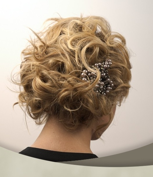 Super Cute Short Hair Updo