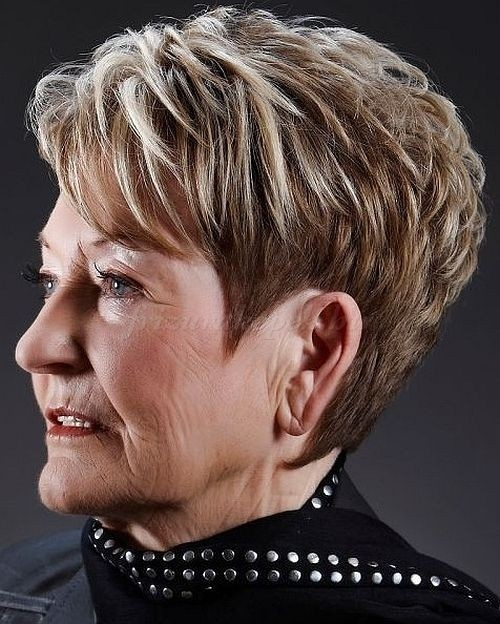 Short Haircuts For Women Over 60 With Thick Hair 67