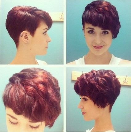 Trendy Red Wavy Haircuts for Short Hair - Women Hairstyles 2015