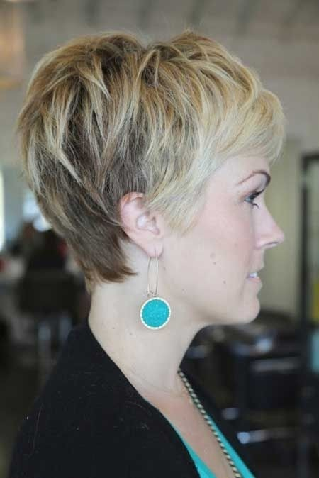 Trendy Short Pixie Haircut - Women Thick Hairstyles