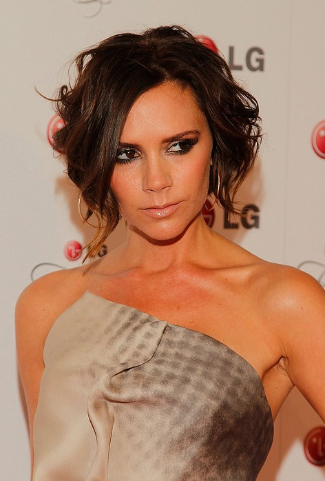 Victoria Beckham Short Curly Bob Hairstyle for Women
