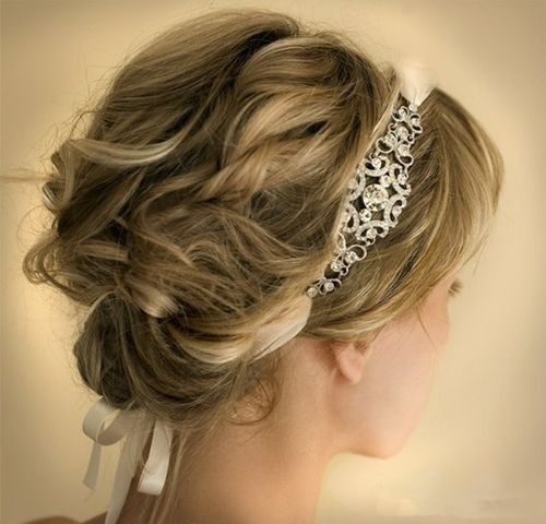 Wedding Hairstyle for Short Hair - Swanky Bridal Updo Hairstyles