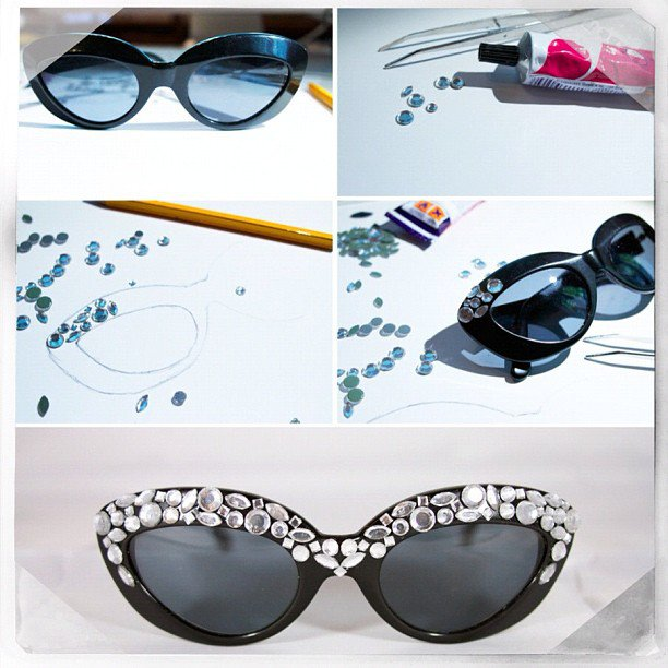 15 DIY Embellished Sunglasses Tutorials