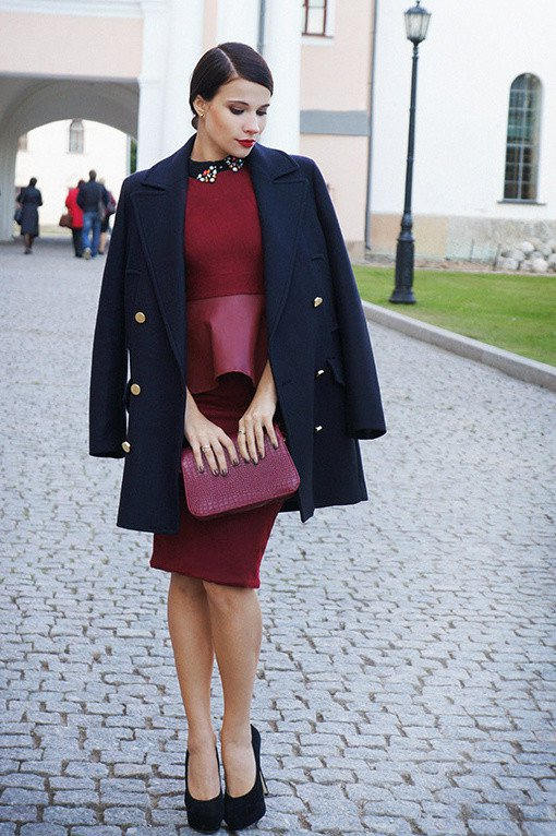 2015 Elegant Winter Dress Outfit