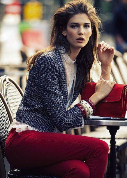 2015 Fashionable Tweed Coat Outfit