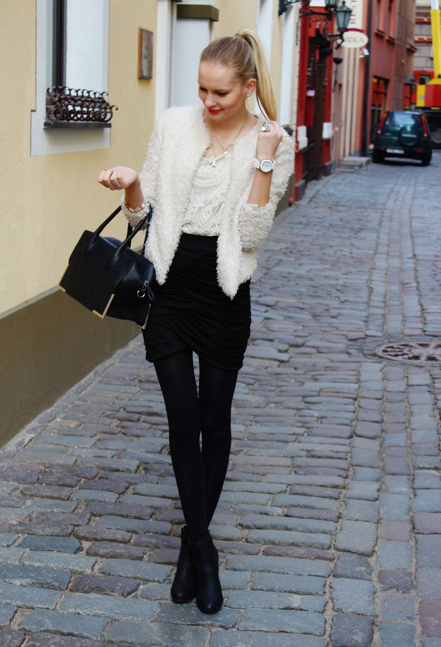 2015 Stunning Black and White Outfit Idea