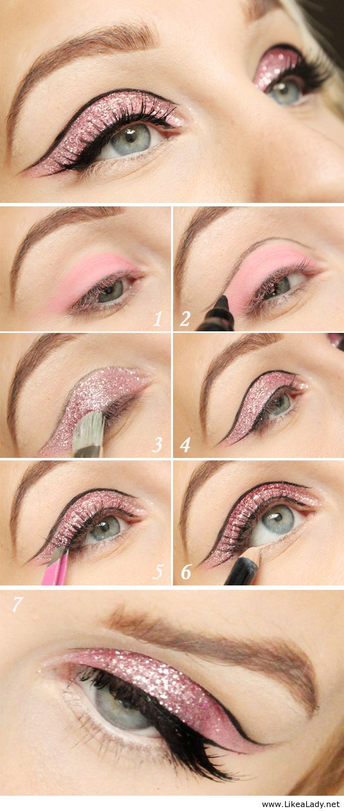 Fashionable Party Eye Makeup Tutorials for 2015
