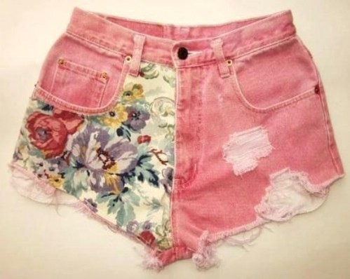 Fabric Paneled Shorts