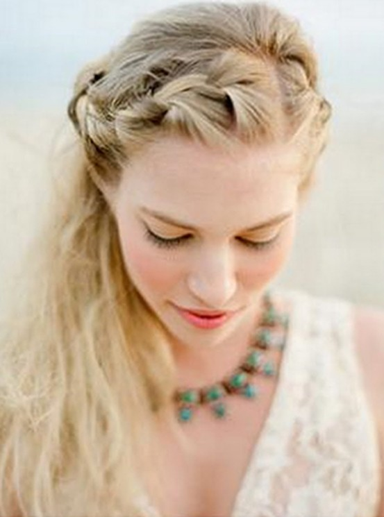 Across Head Braided Hairstyle