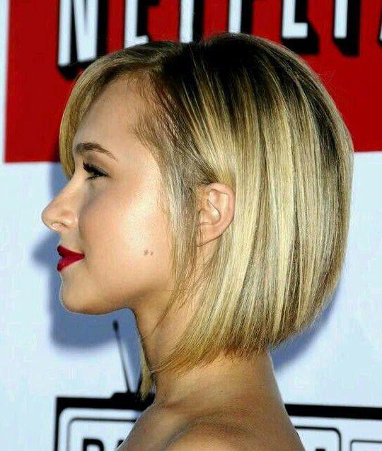 Angled Short Bob Hairstyle