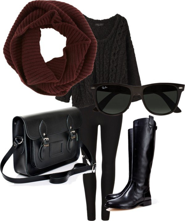 Black Knitwear Outfit for Winter