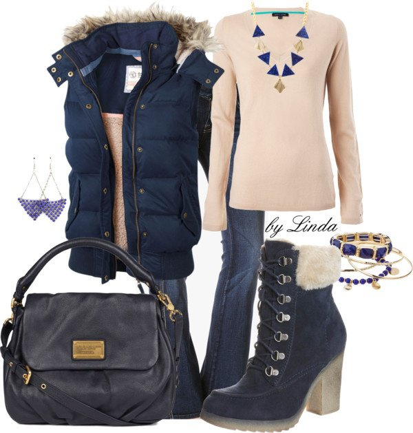 Blue Outfit Idea for Winter 2015
