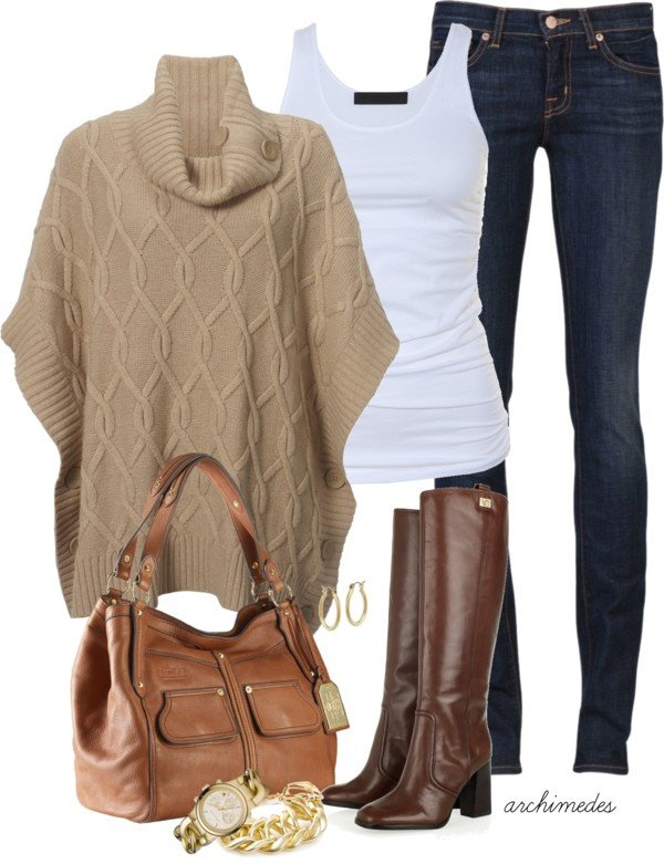 Brown Knitwear Outfit Idea