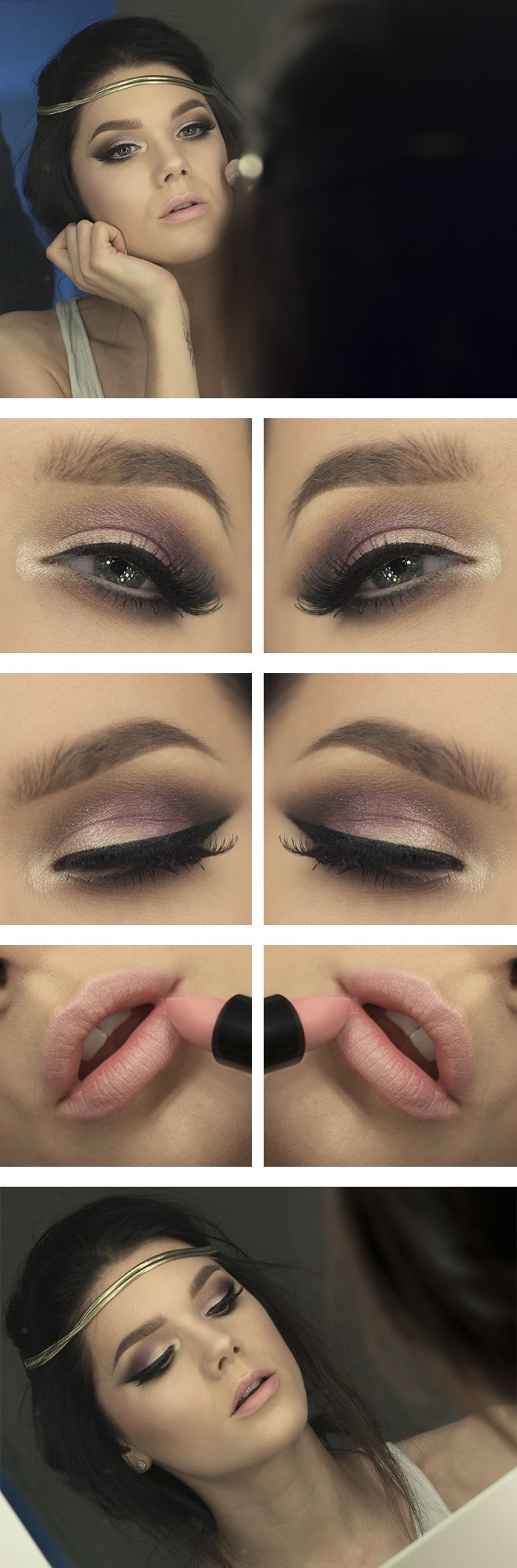 Brown Smoky Eye and Nude lip Makeup Tutorial